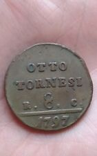 Italie, Royaume de Naples, Otto tornessi, 1797, Ferdinand IV