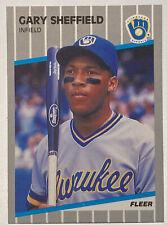 1989 Fleer Gary Sheffield Milwaukee Brewers 196 Rookie Card