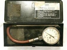 Vintage Dill Commercial 0-200 PSI Air Pressure Guage Dual Chuck Aircraft