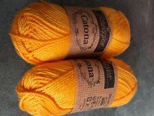 Scheepjes Catona Yarn #208 Yellow Gold - Lot of 2 25g skeins