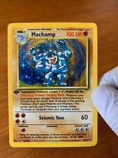 Machamp 1st Edition 8/102 - Holo - Base Set - Vintage pokemon Card - LP