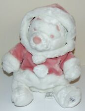 """Winnie the Pooh 11"""" Plush Snowball Pooh Pink Preowned Disney Store Exclusive"""
