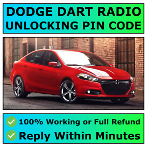 DODGE DART RADIO UNLOCKING PIN CODE DECODE ALL MODELS AVAILABLE | FAST ✅