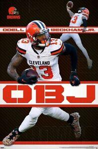 Odell Beckham Jr. - Cleveland Browns - WR - Licensed NFL Poster 22 in x 34 in