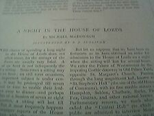 book article 1897 - a night in the house of lords michael macdonagh
