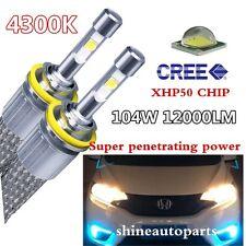 Car CREE LED Headlight bulb 12000LM 4300K Auto lamp fog kit H1 H4 H7H8H9H11 9005