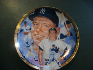 Mickey Mantle Plate1992 Hamilton Collection Cert of Authenticity #3287M Yankees