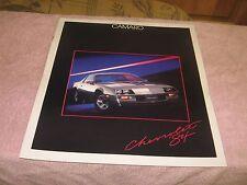 1984 Chevrolet Camaro Large Color Sales Brochure