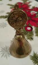 """San Francisco Hangable Solid Brass Bell 4 3/8"""" Tall, """"City By The Golden Gate"""""""