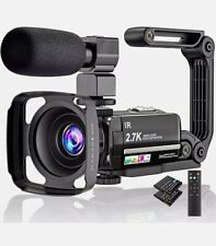 Video Camera 2.7K Camcorder Ultra HD 36MP Vlogging for YouTube New-Open Box