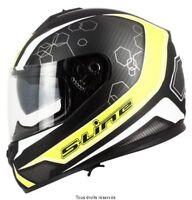 Casque Moto / Scooter Intégral S-Line 440 double visière noir / jaune taille XXL