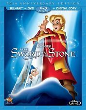 THE SWORD IN THE STONE New Sealed Blu-ray + DVD 50th Anniversary Edition Disney