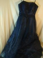 Nadine Prom Formal Dress Gown Triple Layer With Sequin Beads Tulle Shimmers