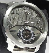 Diesel Machinus DZ7360 Men's Grey Dial Brown Leather Chronograph Watch $325 NEW
