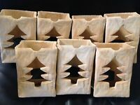 Christmas Tree Candle Holders Ceramic Bags Decoration Lighting Holiday Votive 7