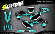 SCRUB Kawasaki graphics decals kit KXf 250 2013-2016 stickers motocross '13-'16