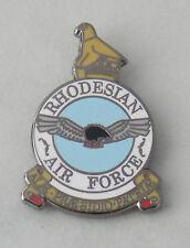 RHODESIAN AIR FORCE (RhAF) LAPEL BADGE ENAMEL & BLACK NICKEL PLATED 25MM HIGH