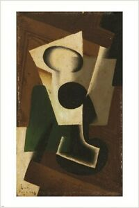 still life WITH A GLASS juan gris VINTAGE PAINTING POSTER modern art 24X36