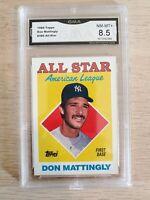 Don Mattingly 1988 Topps #386 All-Star GMA NM-MT+ 8.5
