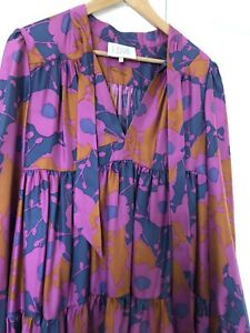 Ossie Clark Bold Print Vintage Flared Mini Dress, Size Large