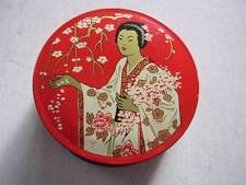 Vintage The Madame Butterfly Brand Pure Silk Ribbon Empty Typewriter Ribbon Tin