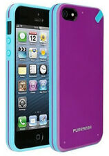 PUREGEAR PURPLE/TURQUOISE SLIM SHELL CASE HARD COVER FOR iPHONE 5 5s SE (2016)