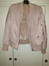 Pink Bomber Jacket Size 12 Fur Lined Warm Winter Jacket