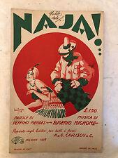 SPARTITO MUSICALE NAJA TANGO P. MENDES E. MIGNONE ED. CARISCH 1928