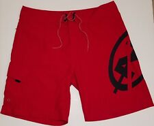 VTG 90's NAUTICA COMPETITION LOGO Red Board Shorts Swim Trunks Men's sz 40 Cargo