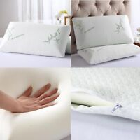 Hypoallergenic Bamboo Memory Foam Pillow King Queen w/Carry Bag Comfortable US