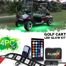 4pc 18 Color LED GOLF CART KART LED UNDERGLOW NEON LIGHT KIT 12 VOLT POWERED
