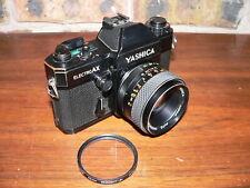 Yashica Electro AX SLR Camera, Black w/Auto Yashinon DS-M 1:1.7, 50mm M42 Lens