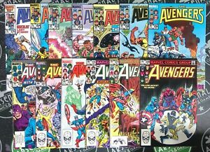 Avengers Lot of 13 (#230-274) 1983-86 Marvel Comics Spider-Man X-Men