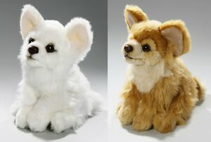 CHIHUAHUA SOFT TEDDY BEAR TOY CUDDLY CRITTERS PLUSH 17cm WHITE FAWN KIDS NEW
