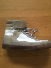Diesel Black Gold Mens High Top Trainers Leather and Suede Size 10 UK