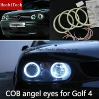 COB Led Light White Halo Led Angel Eyes Ring For Volkswagen Golf 4 golf4 MK4 R32