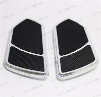Alumnium Front Driver Stretch Floorboard FootRest Compatible with Harley Touring 86-16 Pair HTTMT FB002R
