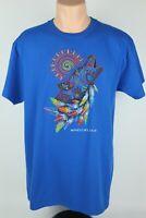 Sportex Apparel Mens Large Moqui Cave Utah Blue Short Sleeve Graphic T Shirt USA