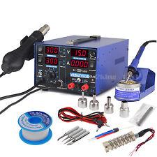 480℃ Lötkolben Heißluft Lötstation Digital mit 4 Düsen Entlötstation 800W 3in1