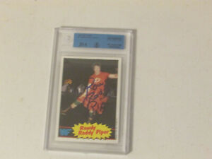 1985 Topps WWF Wrestling Card #7 Rowdy Roddy Piper Signed Autographed Slabbed