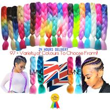 """100+ Colours  U.K  24"""" Ombre Dip Dye Kanekalon Jumbo Braid Hair  24 Hrs Delivery"""