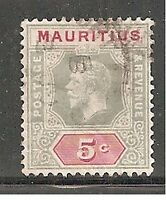 Album Treasures Mauritius Scott # 152  5c  George V  Very Fine Used  CDS
