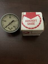 Ashcroft Gauge 160 Psi Pressure 2 Face Dial New Old Stock In Box