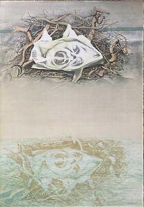 Piero Tredici litografia tra i Rovi 70x50 firmata numerata 1976 Bisonte