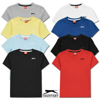 Boys T Shirts SLAZENGER Short Sleeved Tee Age 9 10 11 12 13 Junior Kids Tops NEW