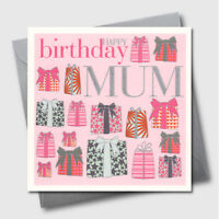 Embossed Mother Happy Birthday Special Mum Greeting Card Presents Pink Luxury UK