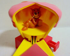 TOM & JERRY - JERRY IN ICE CREAM PLASTIC PVC FIGURE SET w/ SPINNING ACTION RARE