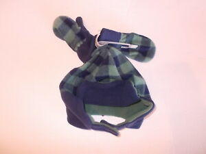 Old Navy Boys Size Small 18-24 Months Fleece Beanie Hat With Matching Mittens