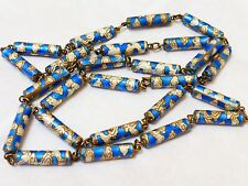CHINESE VINTAGE ENAMAL CLOISONNE SILVER BEAD NECKLACE, Silver Clasp