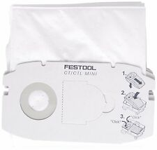 5 x FESTOOL SELFCLEAN Dust Filter Bag For CT MIDI Extractors - 498411